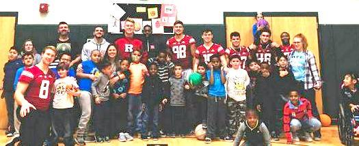 Rutgers football team visits BBLC