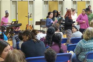 Students enjoyed songs played by the Collier High School band