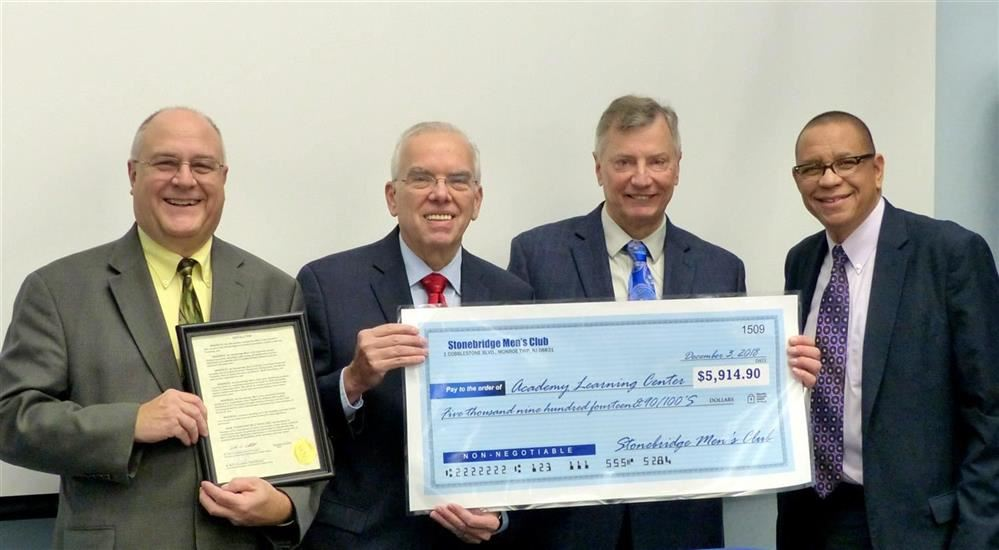 Stonebridge Men's Club Honored By ESCNJ Board of Directors